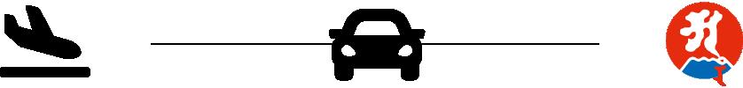 鹿児島空港から最福寺まで自動車で移動